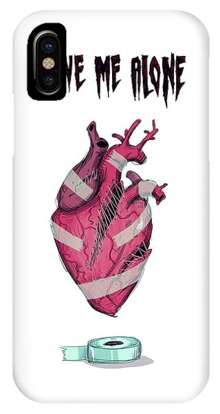 Leave iPhone Case - Leave Me Alone by Ludwig Van Bacon