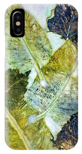Leaves Of Nature Eco Dyed Print IPhone Case
