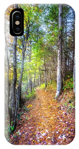 iPhone Case - Leaves On The Trail by Debra and Dave Vanderlaan