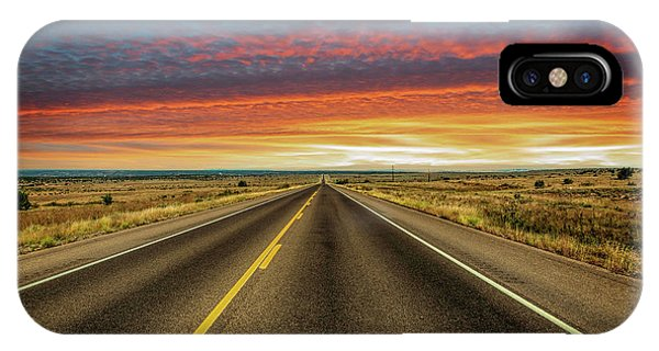 Leaving Lubbock Vanishing Point IPhone Case