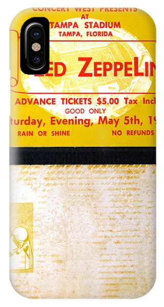 iPhone Case - Led Zeppelin 1973 Concert Ticket by David Lee Thompson