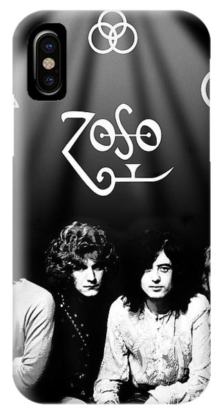 Rock And Roll Jimmy Page iPhone Case - Led Zeppelin Band Tribute by Daniel Hagerman