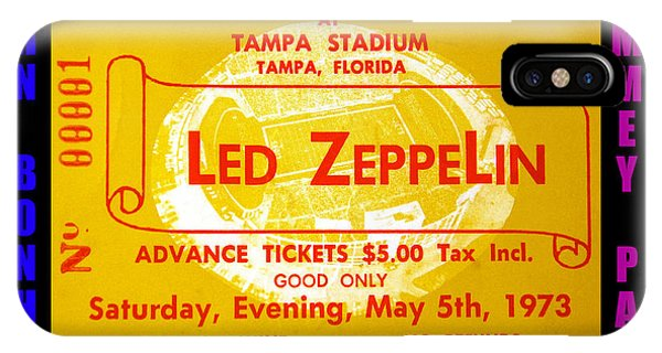 Rock And Roll Jimmy Page iPhone Case - Led Zeppelin Tampa Stadium 1973 Concert by David Lee Thompson