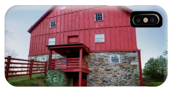 Kingsville iPhone Case - Lee's Merchant Mill Side View Pano by Brian Wallace