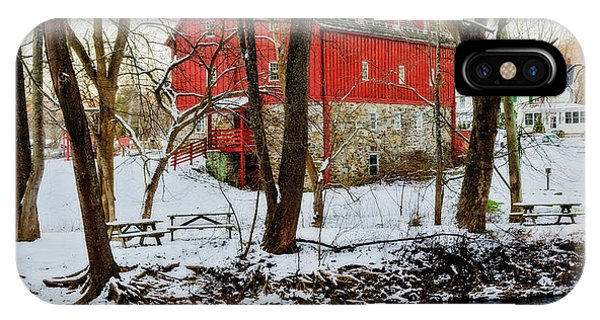 Kingsville iPhone Case - Lee's Merchant Mill With Snow by Brian Wallace
