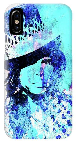 Punk Rock iPhone Case - Legendary Aerosmith Watercolor by Naxart Studio
