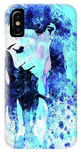 Punk Rock iPhone Case - Legendary Alanis Morissette Watercolor by Naxart Studio