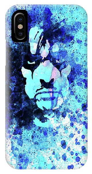 Print iPhone Case - Legendary Alice Cooper Watercolor by Naxart Studio