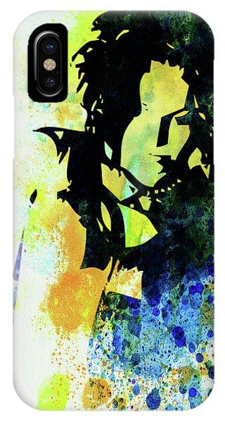 Punk Rock iPhone Case - Legendary Ani Difranco Watercolor by Naxart Studio