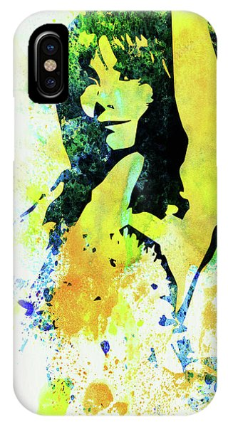 Punk Rock iPhone Case - Legendary Bjork Watercolor I by Naxart Studio