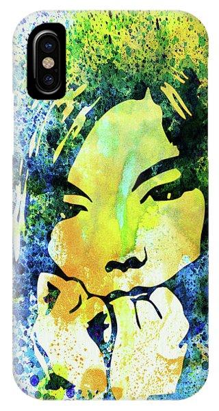 Punk Rock iPhone Case - Legendary Bjork Watercolor II by Naxart Studio