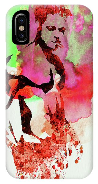Film iPhone Case - Legendary Fight Club Watercolor by Naxart Studio