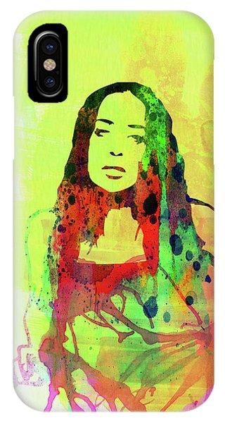 Punk Rock iPhone Case - Legendary Fiona Apple Watercolor by Naxart Studio