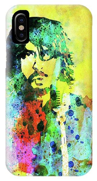 Punk Rock iPhone Case - Legendary Foo Fighters Watercolor by Naxart Studio