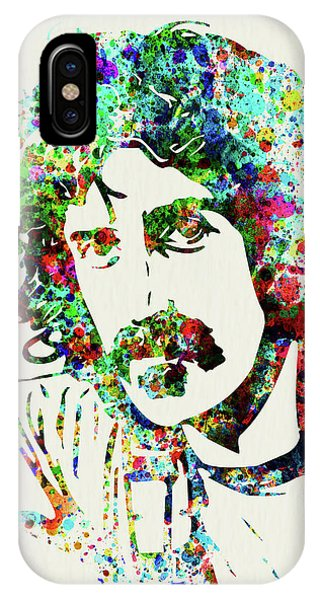 Print iPhone Case - Legendary Frank Zappa Watercolor by Naxart Studio