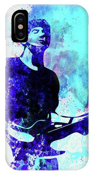 Punk Rock iPhone Case - Legendary Graham Coxon Watercolor by Naxart Studio