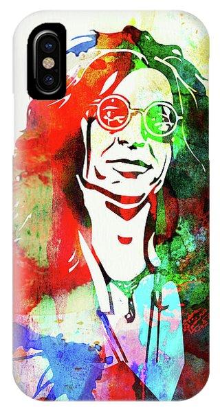 Howard Stern iPhone Case - Legendary Howard Stern Watercolor I by Naxart Studio