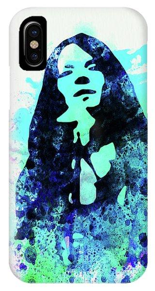 Punk Rock iPhone Case - Legendary Janis Joplin Watercolor II by Naxart Studio