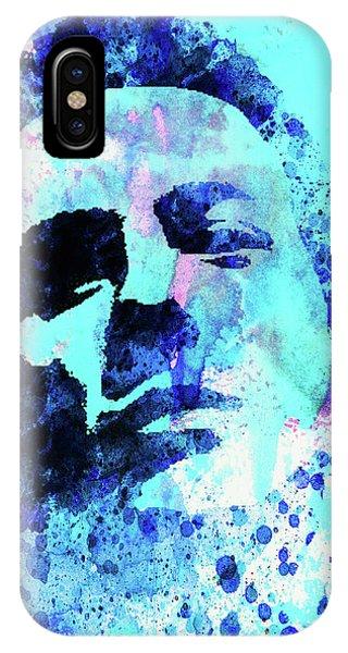 Punk Rock iPhone Case - Legendary Joe Strummer Watercolor by Naxart Studio