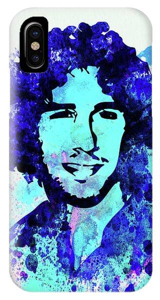 Punk Rock iPhone Case - Legendary Josh Groban Watercolor by Naxart Studio
