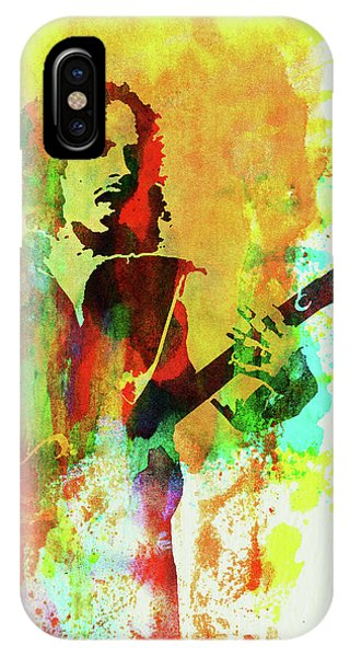 Print iPhone Case - Legendary Kirk Hammett Watercolor by Naxart Studio