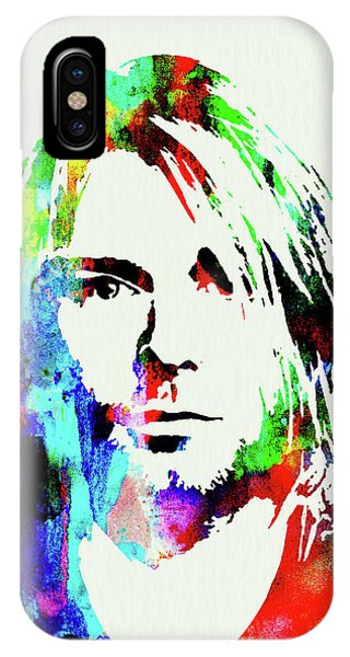 Print iPhone Case - Legendary Kurt Cobain Watercolor by Naxart Studio
