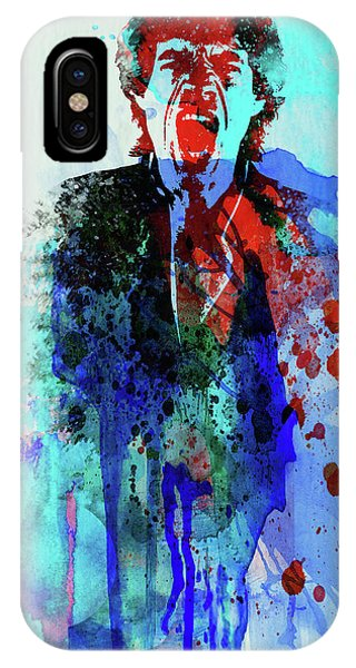 Print iPhone Case - Legendary Mick Jagger Watercolor by Naxart Studio