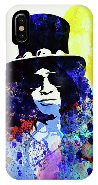 Print iPhone Case - Legendary Slash Watercolor I by Naxart Studio
