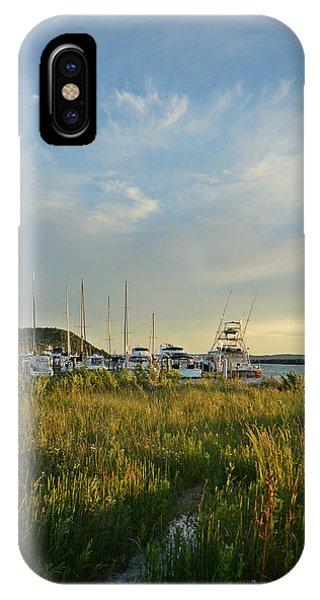 Leland Harbor At Sunset IPhone Case