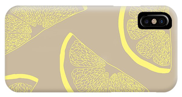 Grapefruit iPhone Case - Lemon Seamless Pattern by Kseniia Romanova