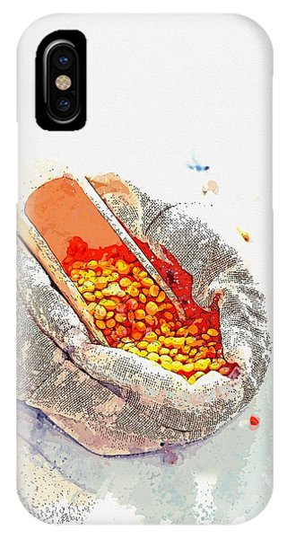 Protein iPhone Case - Lentils -  Watercolor By Ahmet Asar by Celestial Images