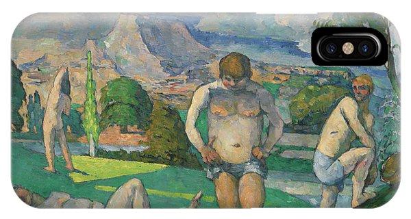 Sunbather iPhone Case - Les Baigneurs Au Repos by Paul Cezanne