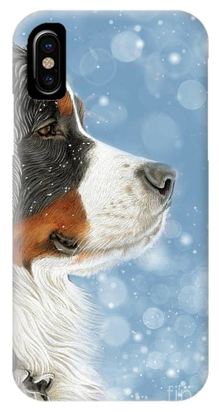 IPhone Case featuring the mixed media Let It Snow - Arctic Blue by Donna Mulley