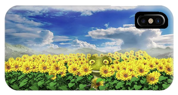 Sunflower iPhone Case - Let's Be Friends by Betsy Knapp
