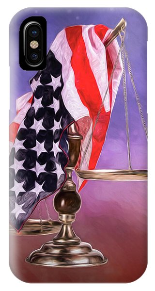 American Flag iPhone Case - Liberty And Justice For All by Tom Mc Nemar