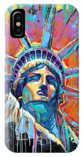 Nyc iPhone Case - Liberty In Color by Damon Gray