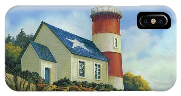 New England Coast iPhone Case - Liberty's Light by Michael Humphries