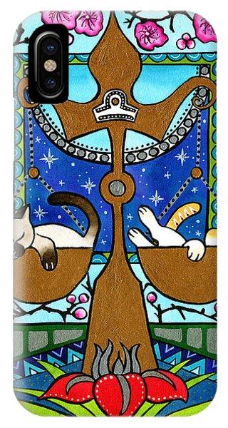 Libra Cat Zodiac IPhone Case