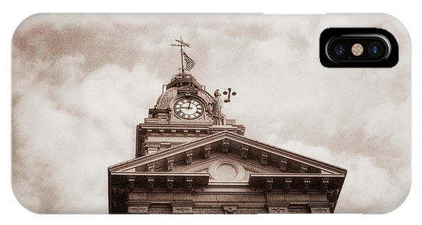 Stars And Stripes iPhone Case - Licking County Courthouse by Tom Mc Nemar