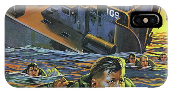 Bravery iPhone Case - Lieutenant John Kennedy In 1943, Towing A Wounded Comrade by Angus McBride