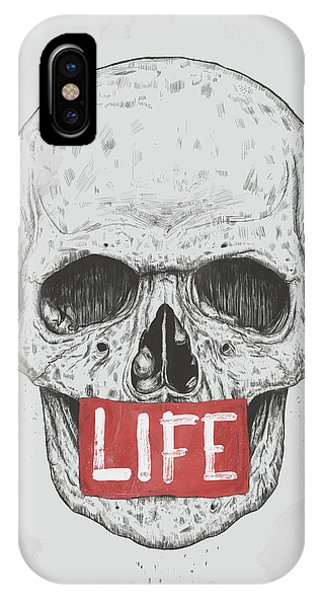 Typography iPhone Case - Life by Balazs Solti