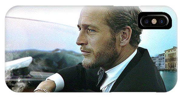 Clayton iPhone Case - Life Is A Journey, Paul Newman, Movie Star, Cruising Venice, Enjoying A Cuban Cigar by Thomas Pollart