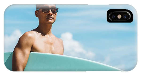 Surfboard iPhone Case - Lifestyle Series  Asian Man Holding by Bhakpong