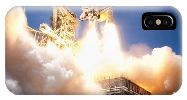 Liftoff iPhone Case - Lift Off Atlantis by Peter Chilelli