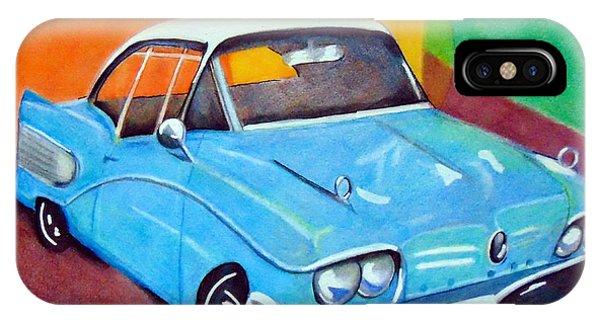 Light Blue 1950s Car  IPhone Case