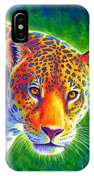 Light In The Rainforest - Jaguar IPhone Case