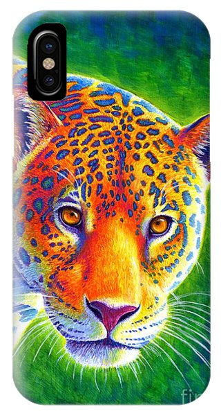 Light In The Rainforest - Jaguar IPhone Case