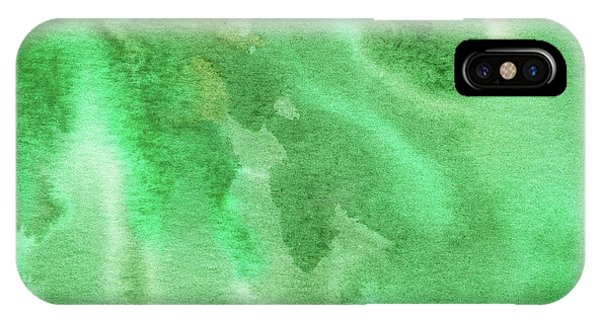 Organic Abstraction iPhone Case - Light Through Green Marble Abstract Watercolor by Irina Sztukowski
