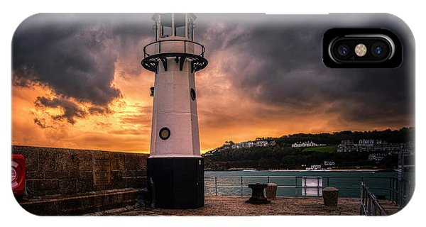 Lighthouse Dramatic Sky IPhone Case