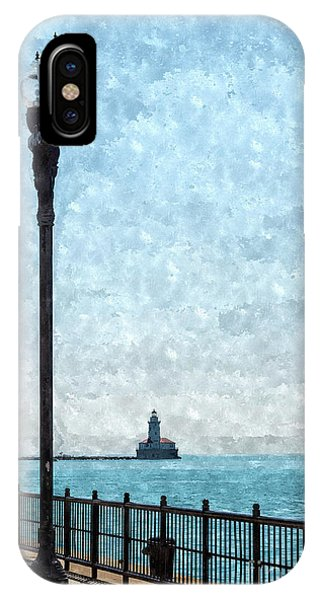 Simple iPhone Case - Lighthouse From Navy Pier Painterly by Jennifer White